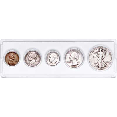 Image for 1947 Silver Year Set (5 coins) with Holder from Littleton Coin Company