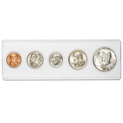 Image for 1969 5-Coin Silver Year Set with Holder, Uncirculated from Littleton Coin Company