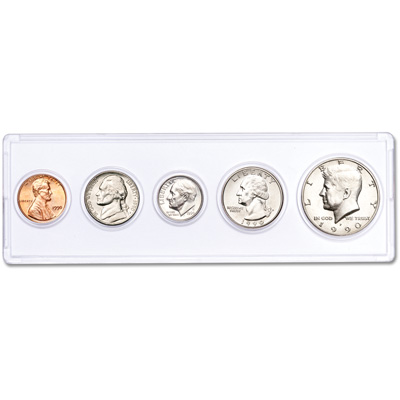 Image for 1990 25th Anniversary Year Set (5 coins) from Littleton Coin Company