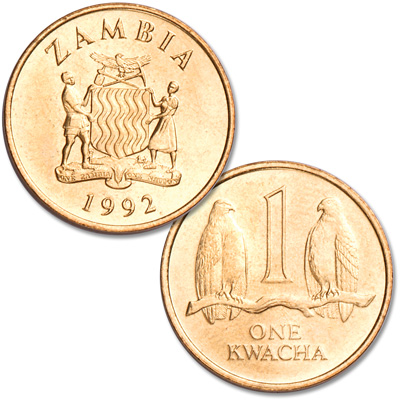 Image for 1992 Zambia 1 Kwacha from Littleton Coin Company